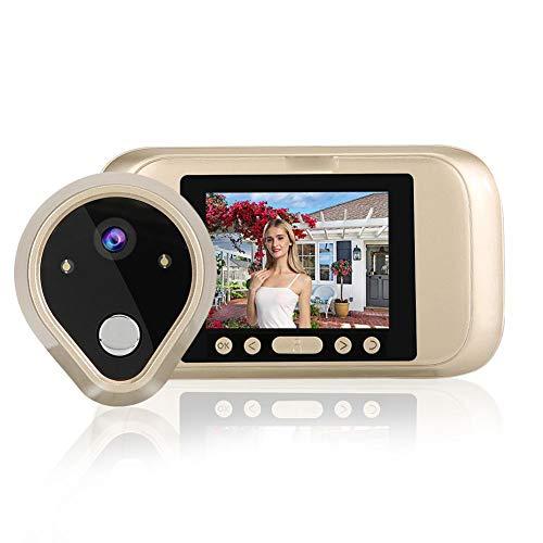 3,2 inch LED-scherm deurbel met ingebouwde microfoon en luidspreker, videodeurbel met 160 graden groothoekcamera, infrarood nachtzicht deurbel, geschikt voor thuis/appartement