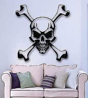 V-studios Wall Stickers Vinyl Decal Skull and Bones Pirate Symbol Jolly Roger VS642