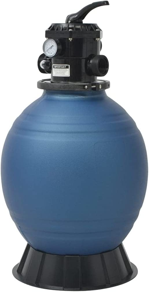 NusGear Pool Sand Filter with 6 Max 72% OFF Position 18 Easy-to-use Valve Blue Ma inch