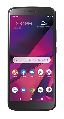 Tracfone Blu View Mega 4G LTE prepaid Smartphone (Locked) - Black - 32GB - Sim Card Included - GSM -  TFBLB110DCP