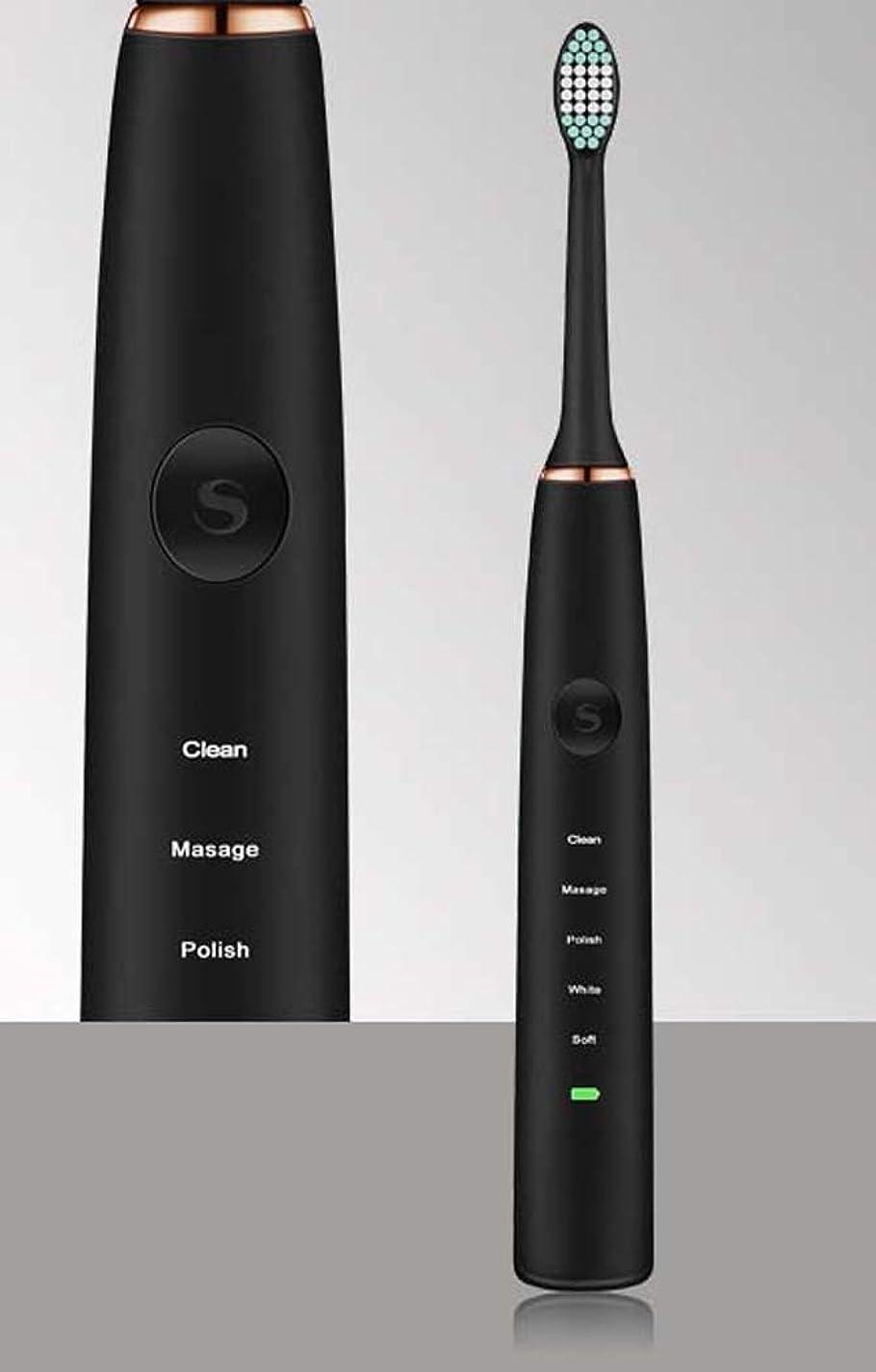 換気ファイルどうやって電動歯ブラシ、充電式ポータブル歯ブラシ、超音波家庭用振動歯ブラシ、USB充電式、インテリジェントタイミングリマインダー