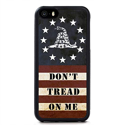 USA Flag Don't Tread On Me 2nd Amendment Slim Shockproof Hard Rubber Custom Case Cover for iPhone 12 Pro Max 11 XS XR