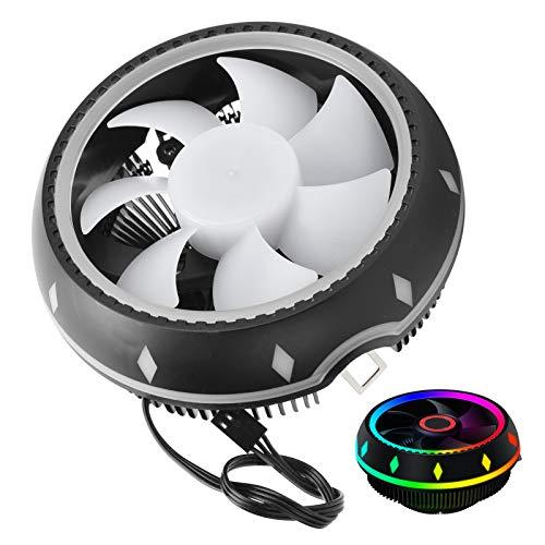 Ventilador de CPU de computadora portátil, enfriador de CPU RGB de escritorio, ventilador de enfriamiento de host de escritorio, disipador de calor portátil, suministros de computadora silenciosos, en