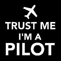 車の装飾 15cm * 15.2cm私は私を信頼していますパイロット飛行機面白い反射車のステッカーオートバイ車デカールアクセサリー黒/スリバー ビニールステッカー (Color Name : Silver)