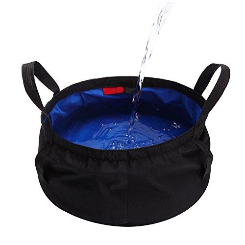 WINOMO Faltbecken Reisen Outdoor Camping Wandern Angeln Wasser Eimer Tasche für (blau)