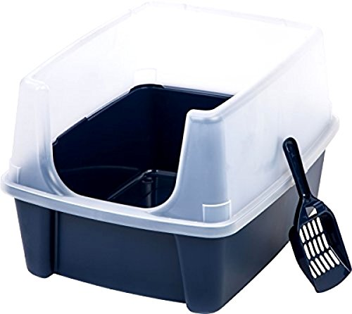 Themost Shop Pet Cat Kitty Open Top Cats Litter Box with Shield and Scoop Tidy :New