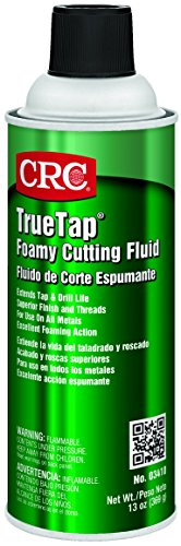 CRC TrueTap Foamy Foaming Cutting Fluid, 13 oz Aerosol Can, Clear