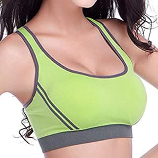 7 Colors High Stretch Breathable Sports Bra Top Fitness Women Removable Padded Sport Bra for Running Yoga Gym Seamless Cro...
