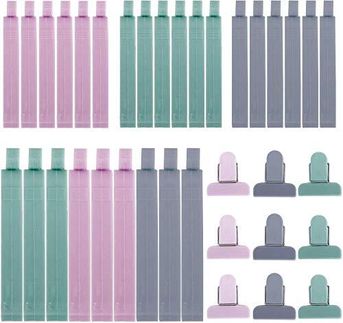 Renquen 12 Stks Klem Anti-Oxidatie Voedsel Clip SealerSealing Clip Kleurrijke Tas voor voedsel Snacks en Cereal Cracker Opslag