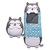 Grande Kids Happy Sleeping Bag Almohada De Juego 2 En 1 Lavable Animal De Dibujos Animados Happy Game Saco De Dormir Almohada Plegable Suave Y Cómodo Cojín Regalo para Niños Camping Viajar