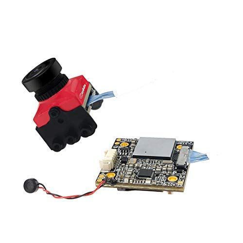 Caddx.us Turtle V2 800TVL 1.8mm 1080p 60fps NTSC/PAL Switchable HD FPV Camera w/DVR for RC Hobby DIY FPV Racing Drone Quadcopter (Red)