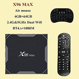 صندوق تلفاز X96 Max Smart TV box Android 8.1 Amlogic S905X2 Quad Core 4GB 64GB 2.4G&5GHz Wifi Android 8 1 4K Set top tv bo...