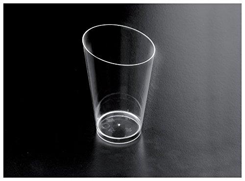 Gold Plast - Bicchierino Conico Alto, colore trasparente - 25 pz per confezione, Capienza 75 cc