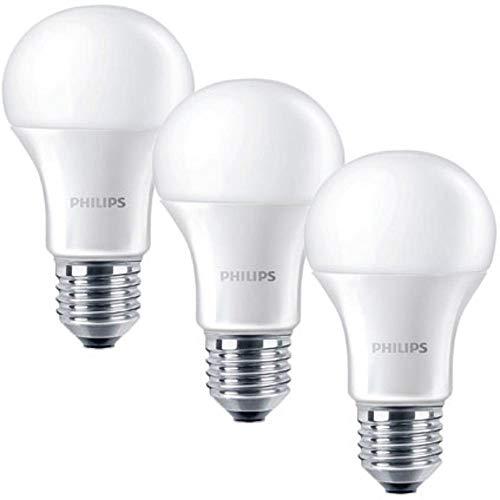Philips Lighting 8718696586259Philips bombilla LED 8W equivalente a 40W cálido, Blister de 3, plástico, E27, 60W, color blanco