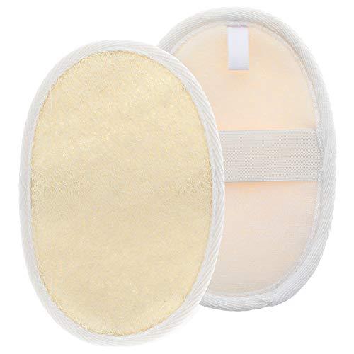 Special&Kind Lot de 2 éponges en coton et lin pour douche et dos, N/A, circle
