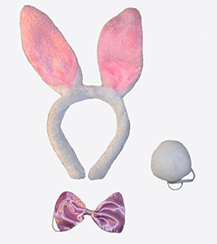 Ein Hasenkostüm (Set), Kostüm Kopfschmuck Hase Faschingskostüm Karnevalskostüm Kostüm Verkleidung Fasching Karneval Feier Party Junggesellenabschied