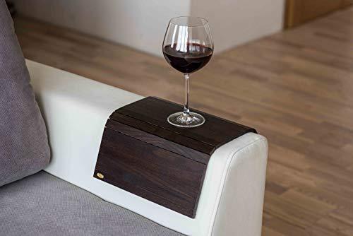 Schutz für Armlehnen von Holzsofas oder Tische, für Tabletts dunkel