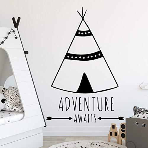 Pegatinas de pared modernas pegatinas de pared de carpa tribal decoración de la habitación de los niños papel tapiz de vinilo póster mural pegatinas de pared A8 XL 58x86cm