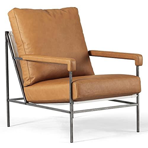 Jonas Ihreborn Seventy Sessel Schwedischer designklassiker, Leder von höchster qualität - Challenger, Brandy, Breite 66 cm Sitztiefe 55 cm