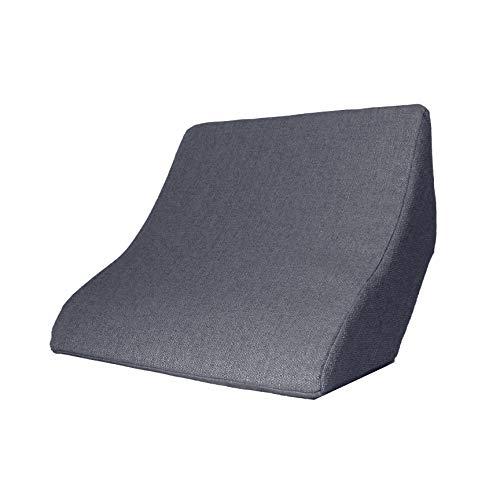Lesekissen und Rückenstütze für optimale Sitzposition. Keilkissen, Rückenkissen, Fernsehkissen, Ergokissen (Anthrazit)