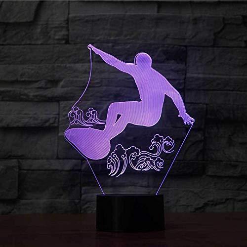 LIkaxyd 3D Led Lámparas De Ilusión Óptica - 7 Colores Cambio De...