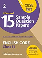 CBSE New Pattern 15 Sample Paper English Core Class 11 for 2021 Exam with Reduced Syllabus