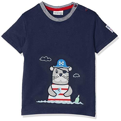SALT AND PEPPER Salt & Pepper Baby-Jungen B Pirat Uni Robbe T-Shirt, Blau (Classic Blue 486), 68