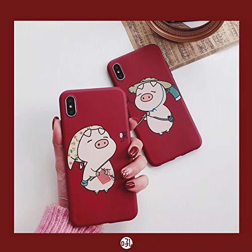 SUNHAO Iphone 6 7 8 plus Xsr MAX case ultra-dunne case voor mannen en vrouwen schattige trui varken paar 7/8plus