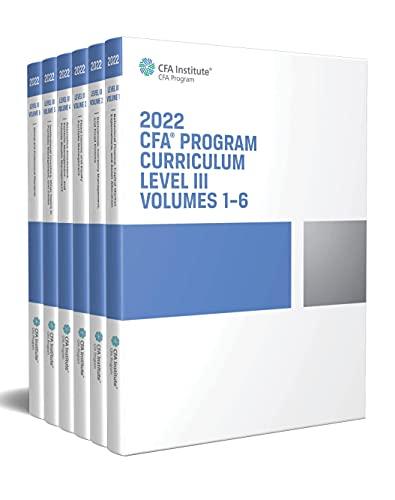 2022 CFA Program Curriculum Level III Box Set