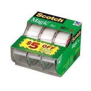 Scotch Magic Tape 300 Inches 3 Per Box  Pack of 2