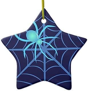 659ParkerRob Christmas Ornaments, Crystal Spider Star Ceramic Christmas Ornaments Christmas Tree Decoration, Keepsake, Couples