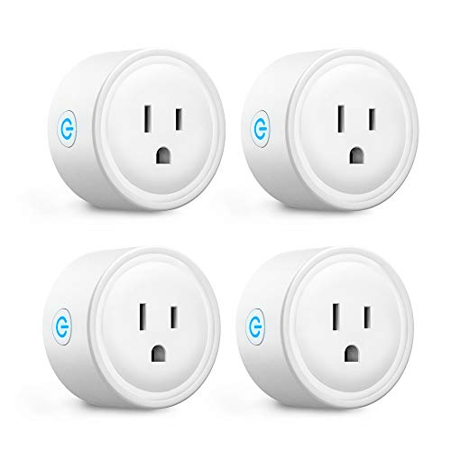Aoycocr Wi-Fi Smart Plugs - 4 Pack No Hub Required 2.4Ghz Outlet with Remote Control, Schedule/Timer Function, work with Alexa, Google Home & IFTTT for Home Automation Modules - Only 10 Amp Appliances