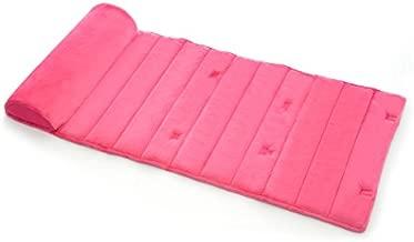 My First Nap Mat, Memory Foam Nap Mat Pad, Attached Removable Pillow, Pink