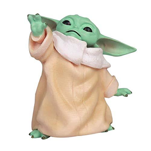 Figura de Una Pieza Star Wars The Child Animatronic Edition AKA Baby Yoda Toys The Mandalorian Baby Yoda Don't Leave, Toy Figure 1-Pack (3.2inch)