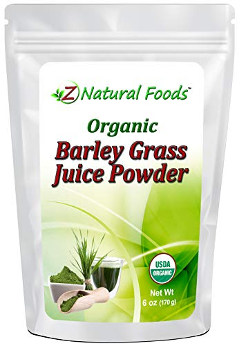 Organic Barley Grass Juice Powder - 6 oz - Amazing Green Superfood Perfect For Smoothies, Drinks, & Recipes - Rich In Vitamins, Minerals, & Antioxidants - Raw, Vegan, Non GMO