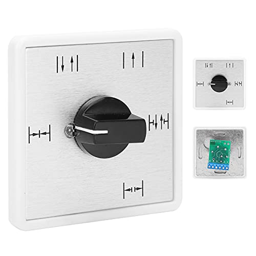 CUTULAMO Interruptor de perilla, resistente a la intemperie, interruptor de puerta de 5 posiciones, larga vida útil para seguridad en el hogar