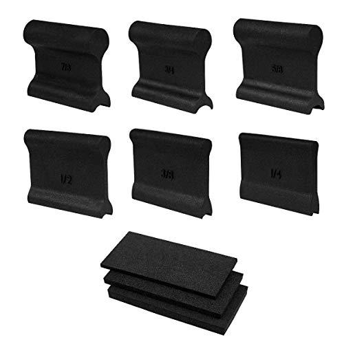 POWERTEC 71441 Flexible Contour Sanding Grips Set w/ 3 Flexible Foam Pads and 6 Profile Grips for Sanding Convex and Concave Profiles