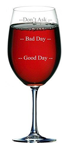 750ml wijnglas (bevat een hele fles wijn) met drie fasen van Mood Design