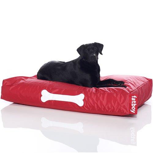Fatboy® Doggielounge Big rot   XXL Nylon-Hundekissen   Abwaschbares Hundebett für große und kleine Hunde   120 x 80 x 15 cm
