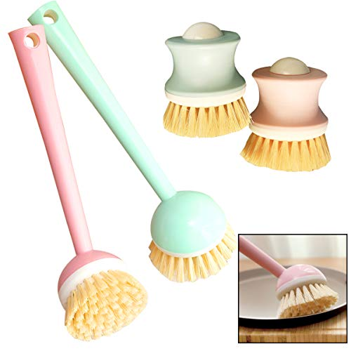 Osuter 4PCS Cepillo Fregar Platos Plastico Cómodo Cepillo Platos para Platos Sartenes Maceta