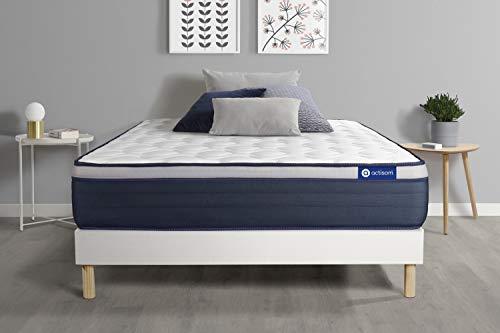 Matras met geheugenschuim Actimemo Max 90 x 190 cm 7 zones comfort lattenbodem wit – dikte: 26 cm – comfort: stevig