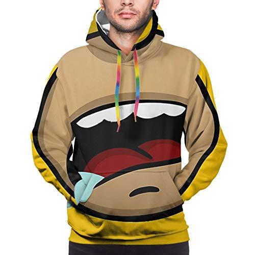 Homer Simpson Men's 3D Printed Pullover Long Sleeve Sweatshirt Pocket Hoodie Warm Sweater Black