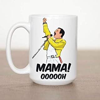Mama Oooooh Mug Freddie Mercury parody Ceramic - White Mug (15 Oz)
