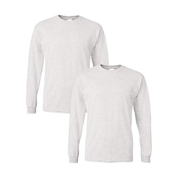 Gildan Men's DryBlend Long Sleeve T-Shirt, Style G8400, 2-Pack