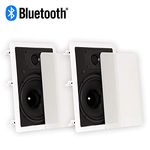 Sale!! Theater Solutions TS80W Bluetooth 8 in Wall Powered Speaker Pair Flush Mount