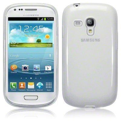 itronik® 0,35mm Ultra Slim flacher Bumper - die dünnste flexible Schutzhülle für Samsung Galaxy S3 Mini i8190 - Bumpers Hülle Hülle Schale Schutz Tasche - weiss transparent durchsichtig