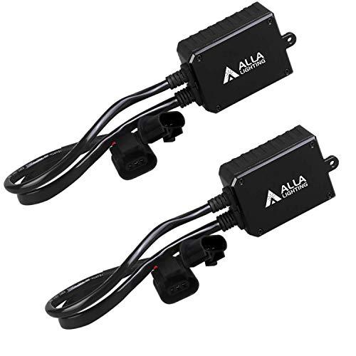 Alla Lighting 9008 H13 LED Decoder Bulbs Anti-Flicking Warning Error Canceller Capacitor Kit Harness Direct Plug-N-Play