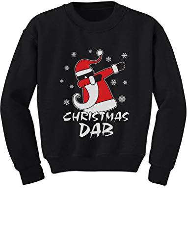 Dabbing Santa Christmas Dab Funny Ugly Xmas Toddler Kids Sweatshirt 3T Black