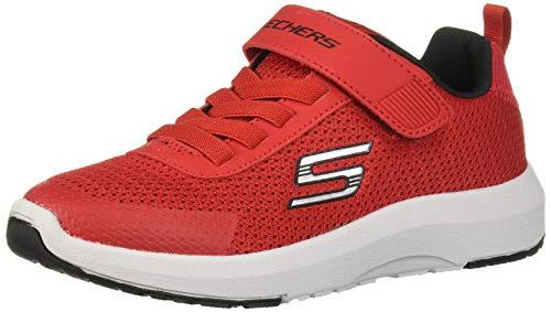 Skechers Kinder Sneaker Dynamic Tread mit Klettverschluss und Memory-Foam-Decksohle Rot (Red/Black) Größe 38 EU