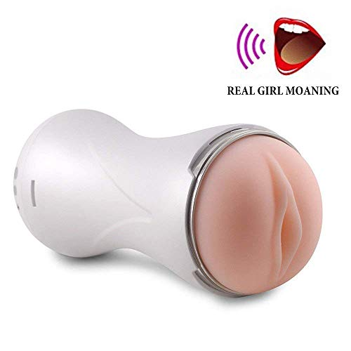 Men's Handheld Sleeve Stoker Adult Toys Cup with 7 Speed Modes (White S)